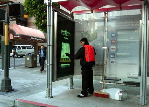 Muni Bus Shelter - Now With Gaming! (Image courtesy PSFK)