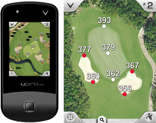 Callaway's upro mx GPS Device (Images courtesy Callaway)