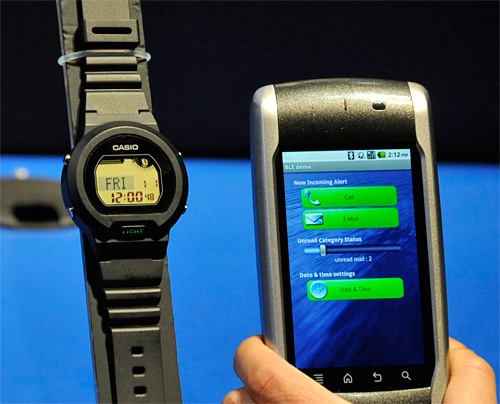 Casio's Bluetooth Low Energy (BLE) Prototype Watch (Image property OhGizmo!)