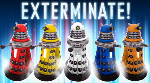 Dr. Who Ride-in Daleks (Image courtesy Zappies)