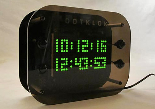 DOTKLOK Open Source Digital Clock (Images courtesy Andrew O'Malley)