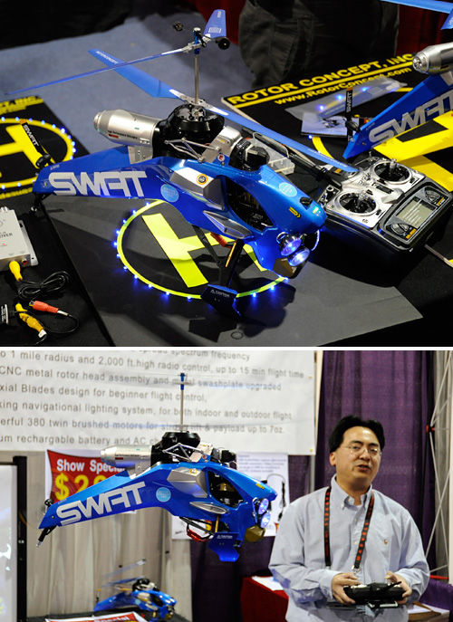 Rotor Concept's ID1-SWAT RC Helicopter (Images property OhGizmo!)