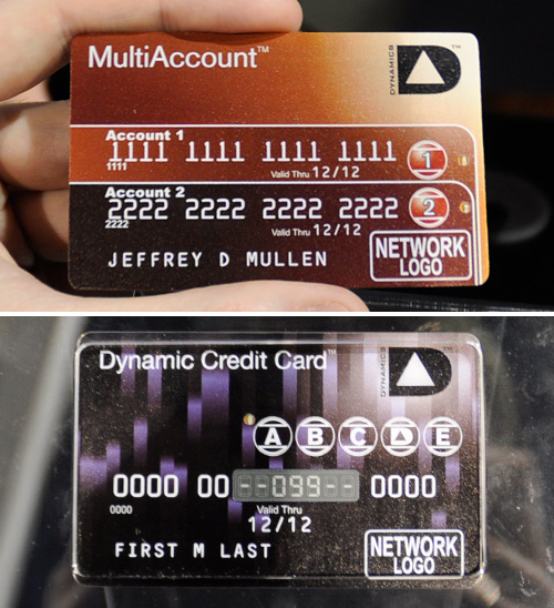 Dynamics' MultiAccount Credit Cards (Images property OhGizmo!)