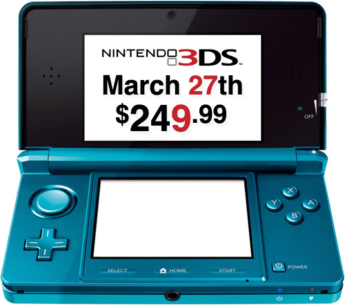 Nintendo 3DS (Image courtesy Nintendo)