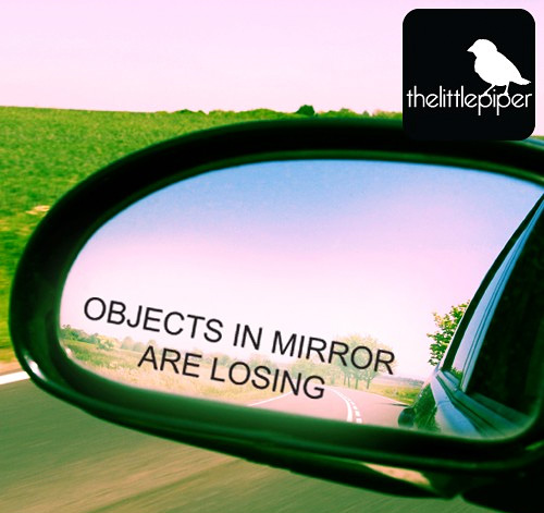 Objects in mirror are losing car sticker (Image courtesy Etsy)