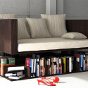 Ransa Sofa Floats Over A Shelf – Perfect For Those Who Like Their Books Getting Kicked