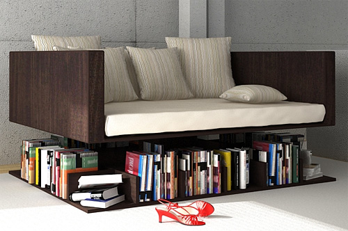 Ransa Bookshelf Sofa (Image courtesy Younes Duret)