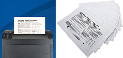 Shredder Lubricant Sheets (Images courtesy Aleratec)