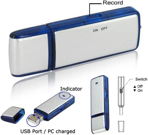 Sound Recording USB Flash Drive (Images courtesy Amazon)