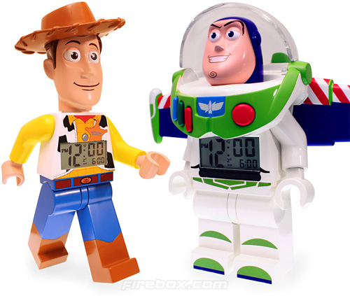 Toy Story LEGO Alarm Clocks (Images courtesy Firebox.com)