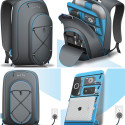 Quirky Trek Support Backpack With Built-in Charging For Multiple Gadgets