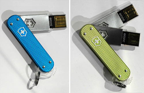 Victorinox Slim & Slim Duo Flight-Friendly Flash Drives (Images property OhGizmo!)
