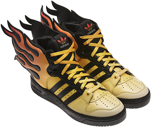 adidas Originals Jeremy Scott Flame Shoes (Image courtesy adidas Originals)