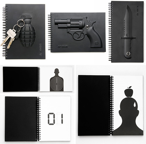 Armed Notebooks (Images courtesy MollaSpace)