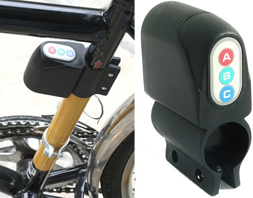Bicycle Anti-Theft Alarm (Images courtesy VirtualVillage.com)