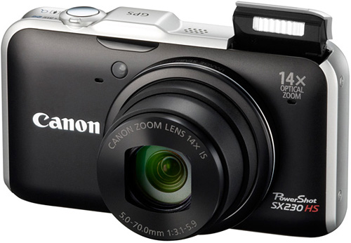 Canon's New PowerShot SX230 HS (Image courtesy Canon)