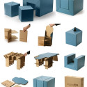 C.F.S. Eco-Friendly Cardboard Kids Furniture Set