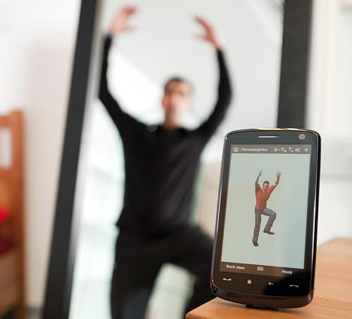 Fraunhofer's Electronic Fitness Trainer (Image courtesy Fraunhofer-Gesellschaft)