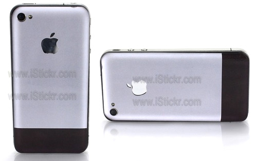 Aluminum First Gen iPhone 4 Decal (Images courtesy iStickr)