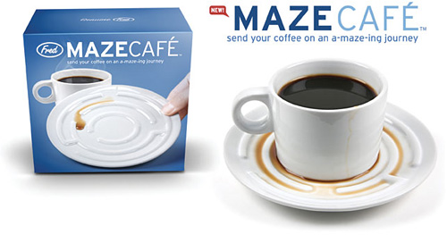 Maze Café Cup And Saucer (Image courtesy Fred & Friends)