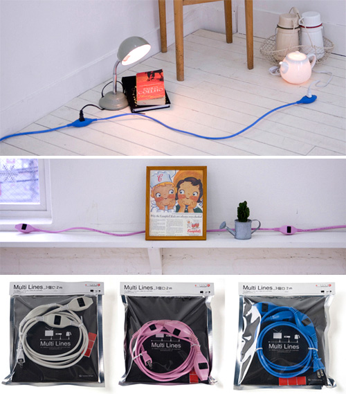 Multi Lines Extension Cords (Images courtesy Connect Design)