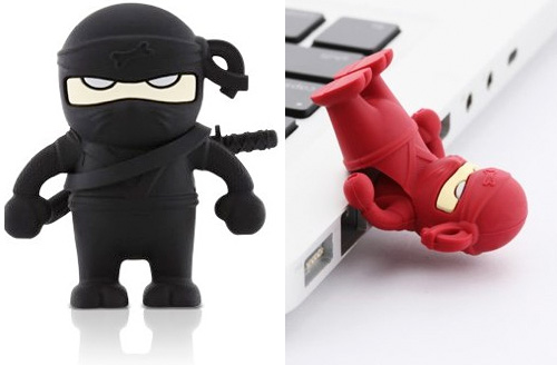 Bone Collection Ninja Flash Drive (Images courtesy Holycool.net)