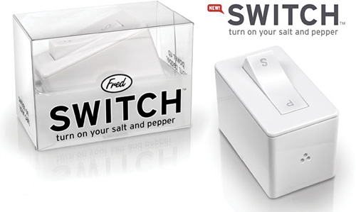 Switch Salt And Pepper Shaker (Image courtesy Fred&Friends)