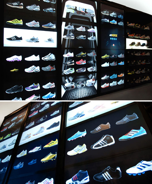 adidas adiVERSE Virtual Footwear Wall (Images courtesy adidas)