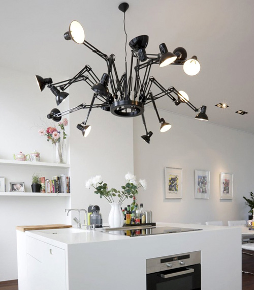 Dear Ingo Articulated Lamp Chandelier (Image courtesy Hofman Dujardin)