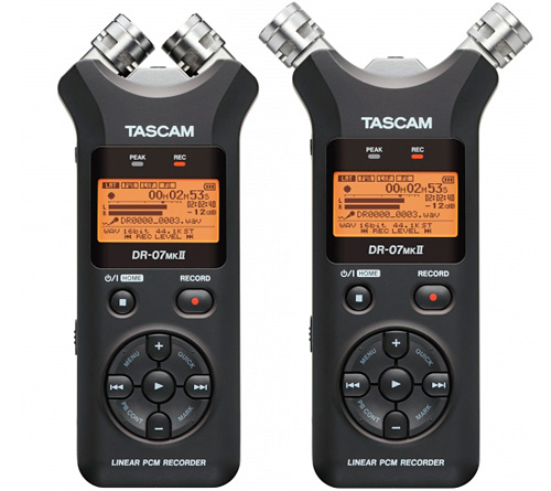 Tascam DR-07MKII Handheld Audio Recorder (Images courtesy Tascam)