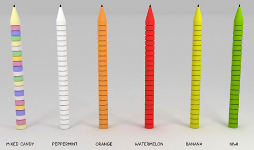 Edible Pens (Image courtesy Dave Hakkens)