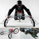 Three-Wheeled EX Trike Powered By A Couple Of Electric Drills Accelerates Up To 18+MPH