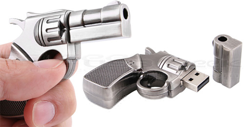 S&W Revolver USB Drive (Images courtesy USB Geek)