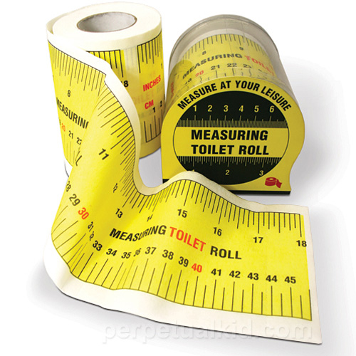 Measuring Tape Toilet Paper (Image courtesy Perpetual Kid)