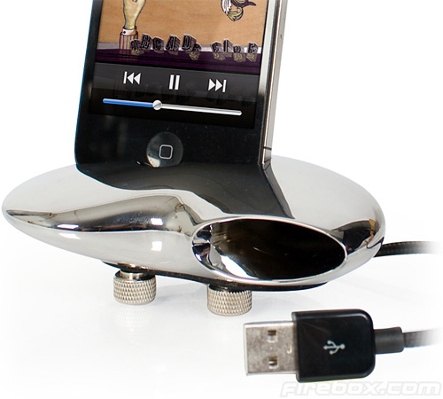 Nautilus iPhone 4 Dock (Image courtesy Firebox)