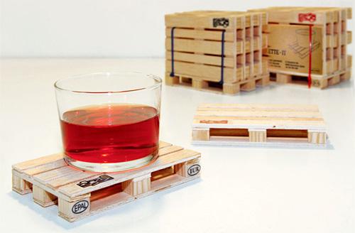 Shipping Palette Coasters (Image courtesy designboom)