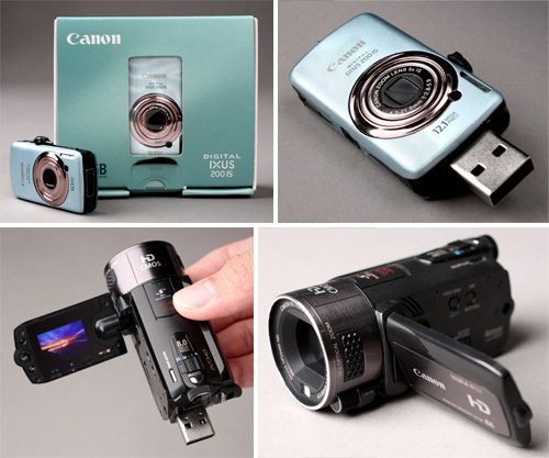 Canon Digital Camera Flash Drives (Images courtesy One Paradox)
