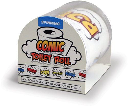 Comic Toilet Roll (Image courtesy Spinning Hat)
