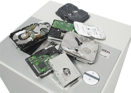 IDEAL 0101 Hard Drive Puncher (Image courtesy PC Pro)