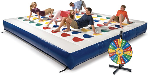 Inflatable Outdoor Color Dot Game (Image courtesy Hammacher Schlemmer)