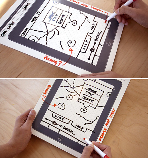 iPad Dry Erase Board (Images courtesy UI Stencils)