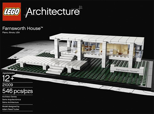 LEGO Farnsworth House (Image courtesy LEGO)