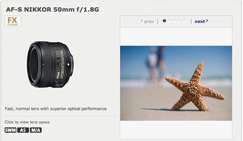 Nikkor AF-S 50mm ƒ1.8G Lens (Image courtesy Nikon Rumors)