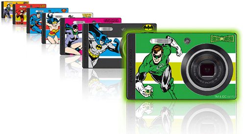 DC Comics Skins Pack For The Pentax Optio RS1500 (Image courtesy Pentax)
