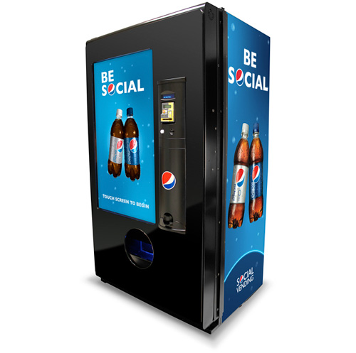 PepsiCo Social Vending Machine (Image courtesy PepsiCo)