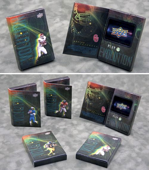 Upper Deck 'Evolution' Video Trading Cards (Images courtesy Upper Deck)