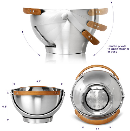 Ventu Strainer Bowl (Images courtesy Quirky)