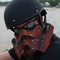 Handmade Leather Stormtrooper Motorcycle Mask
