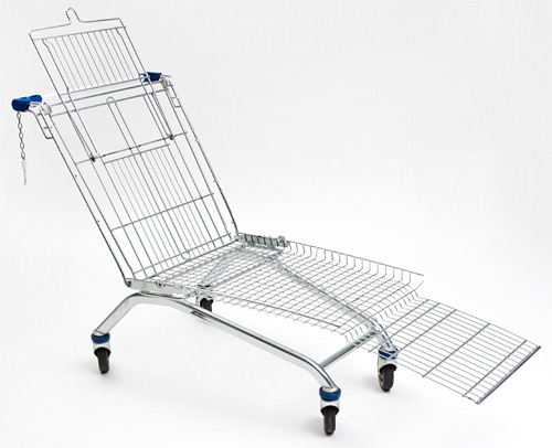 Mike Bouchet Shopping Cart Lounger (Image courtesy designboom)