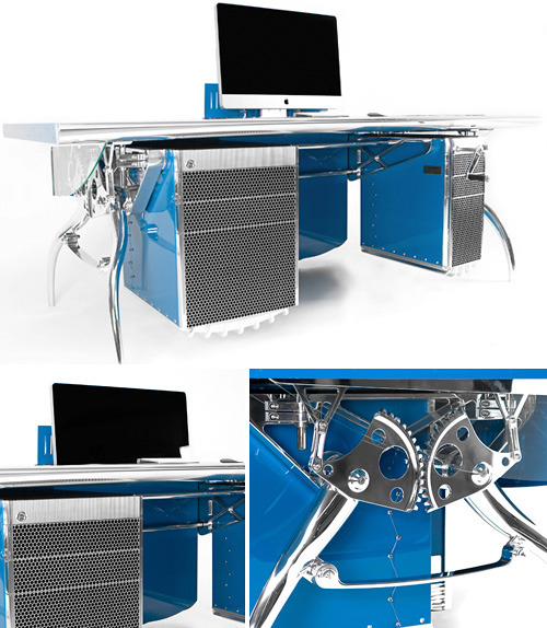 Bugatti Grand Prix Inspired Desk (Images courtesy Luzzo Bespoke)